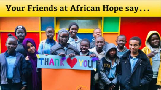 African Hope Learning Center Report