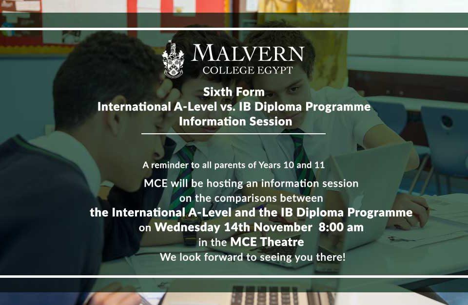Sixth Form Information Session Invitation