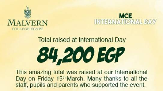 International Day Money Raised For Charity