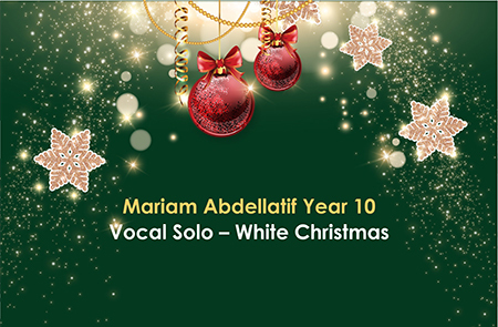 Year 10 – Vocal Solo
