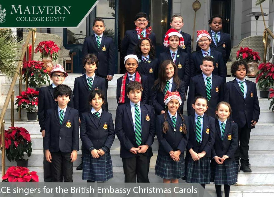 MCE singers for the British Embassy Christmas Carols