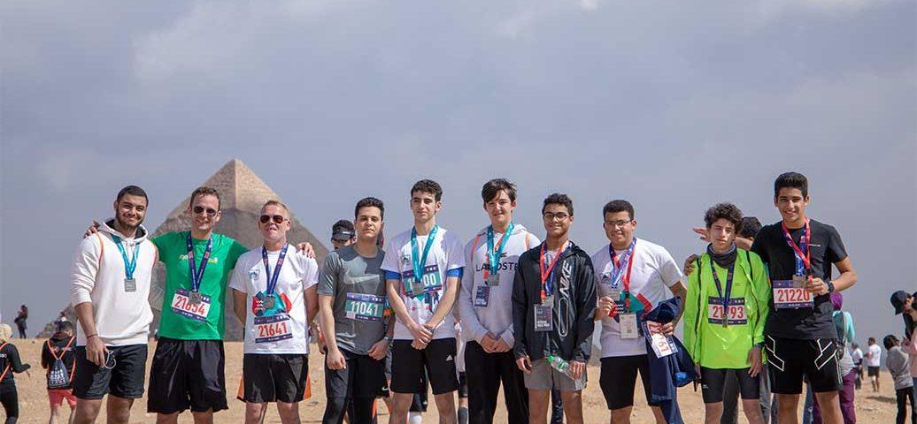 MCE students at Pyramids Half Marathon