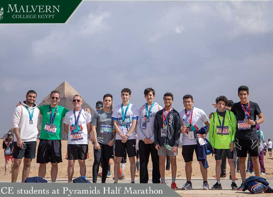 MCE students at Pyramids Half Marathon