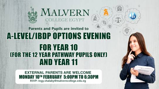 A Level/IBDP Options Evening